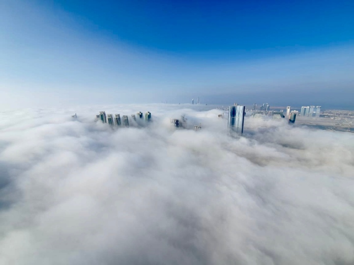 Abu Dhabi in clouds